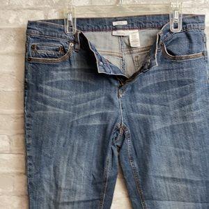 Liz & Co stretch blue jeans